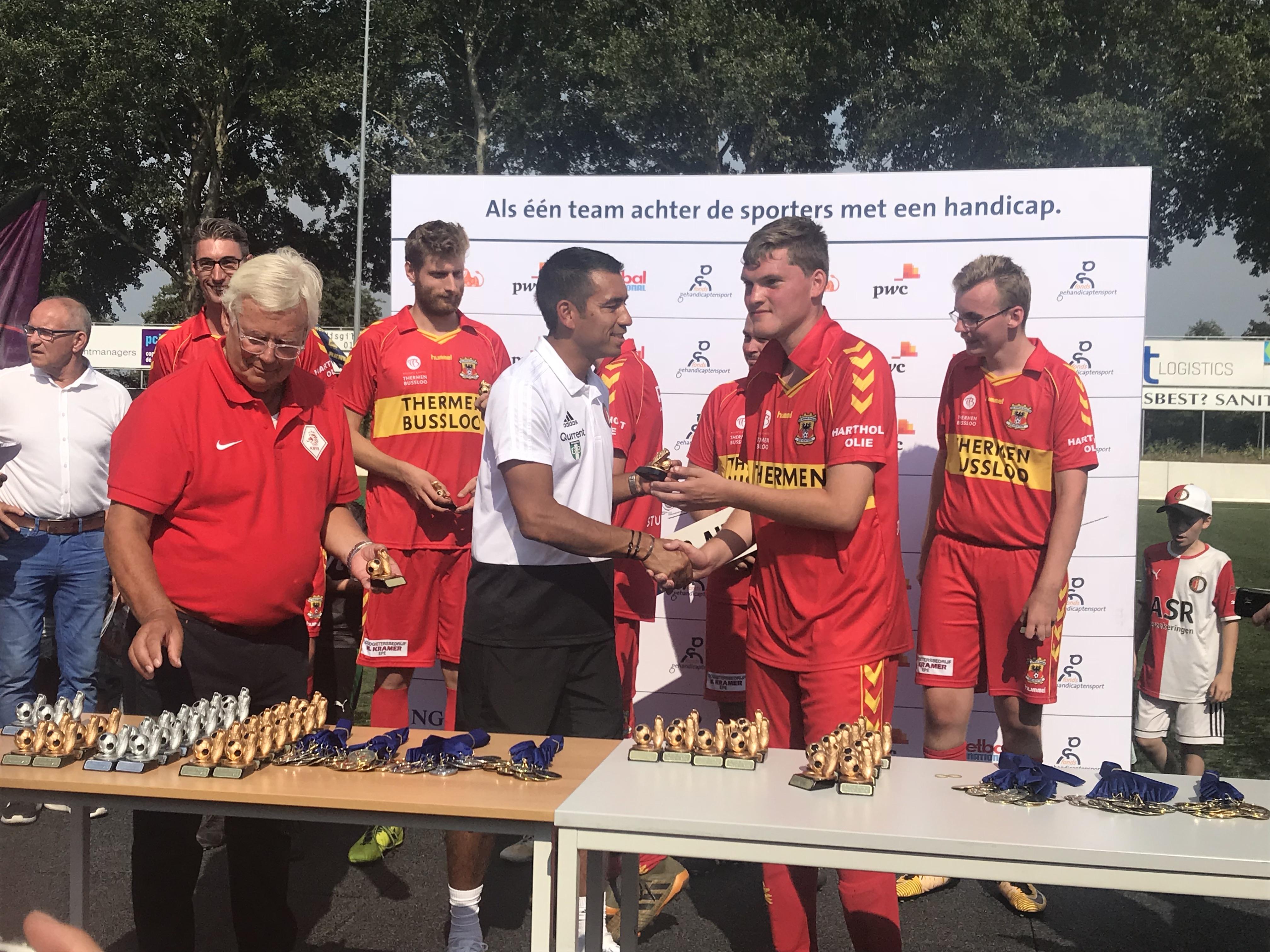 Prijsuitreiking G-toernooi 2018