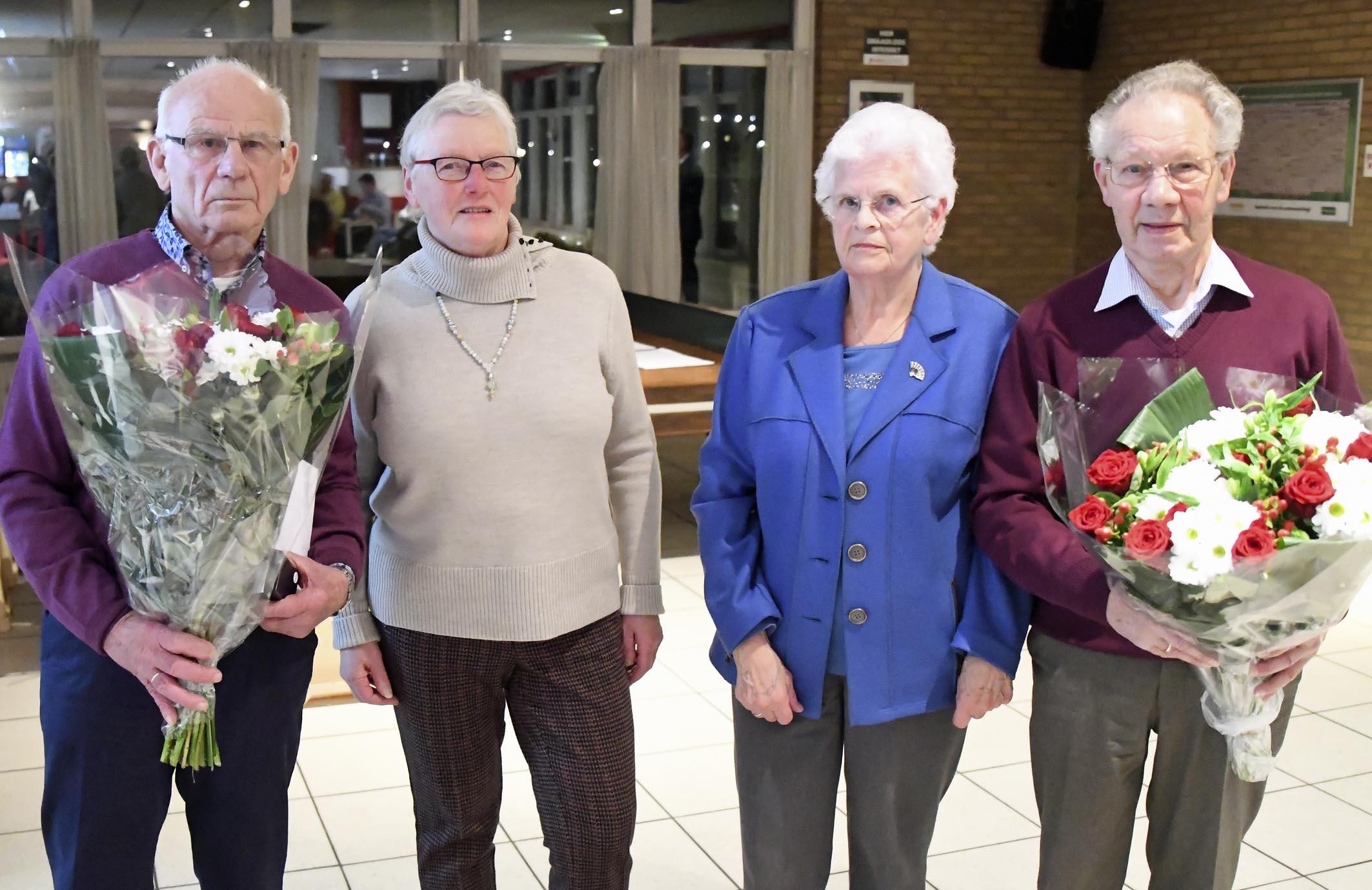 Jacob Drinkwaard en Gert Roos - 70 jaar lid