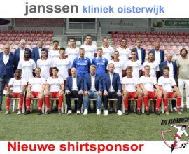 Shirtsponsor Janssen Kliniek
